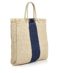 Diy Burlap Bags, Beach Totes, Unique Bags, Summer Bags, Natural Red, Knitted Bags, Beautiful Bags, Straw Bag, Bag Accessories