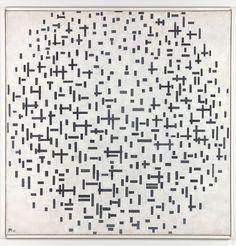 Piet Mondrian, Composition in line, second state, 1916-1917. Collection Kröller-Müller Museum, Otterlo. Courtesy: Collection Museo Kröller-Müller, Otterlo