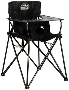 Ciao! Baby Portable Travel High Chair, Black