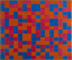 No Brash Festivity, Piet Mondrian, Composition with Grid 8: Checker...