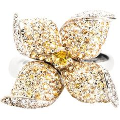 White Gold, Yellow Sapphire And White Diamond Butterfly Ring ($7,500) ❤ liked on Polyvore featuring jewelry, rings, fashion rings, yellow, butterfly jewelry, yellow sapphire jewelry, white gold jewelry, butterfly ring and white diamond ring