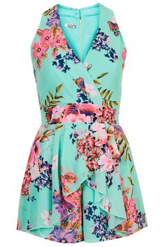 Wal G Floral Frill Halterneck Playsuit Wal G, Flower Skirt, Playsuits, Jumpsuits, Playsuit Romper, Floral Romper, Dresses For Work, Rompers, My Style