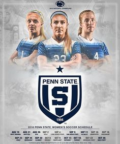 Our 2016 poster is here! Pick up your copy Friday against WVU! #WeAre #PSWS ⚪️⚽️