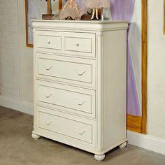 Charlotte 4 Drawer Chest - Antique White - 3850-2200