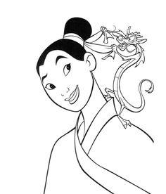 mushu and cri kee mulan coloring pages pinterest