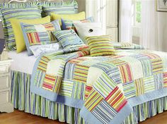 C & F Enterprises Sebastian Full/Queen Quilt Beds For Sale, Clean Bedroom, Tropical Bedding, Bedding Inspiration, Bed, Bed Styling, Luxury Mattresses, Tropical Bedding Sets, College Bedding