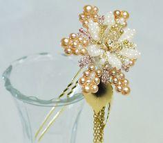 レシピメイン画像 | Hairpin flower bead pattern. I make flower beads like this too.