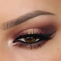 Fierce eye makeup! For a more toned down look try new RMS Eye Polish in Lucky