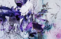 Estela A. Cuadro   A Fantasy Wonderland Of Illustration print pattern via Patternbank