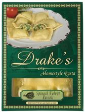 Drake's Pasta - Spinach  Walnut Ravioli    LOVE is in the pesto with this filling flavor!!!