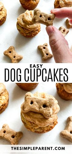Cupcakes For Dogs Recipe, Dog Cake Recipes, Easy Dog Treat Recipes, Dog Biscuit Recipes, Easy Cupcake Recipes, Homemade Dog Treats, Dog Food Recipes, Easy Dog Cake Recipe, Recipe For Dog Biscuits