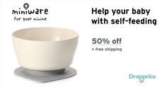 Help me drop the price of the Miniware Suction Cereal Bowl to $11.75 (50% off). Miniware is a complete system of tableware and feeding products which will help your little one learn to self-feed while staying healthy and happy. On top of that Miniware are delightfully easy to use, reduce the mess and look great!