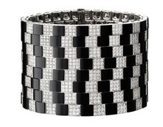 Cartier Biennale Bracelet - White gold, onyx, brilliants. PHOTO Vincent Wulveryck © Cartier 2012