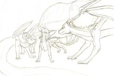 Wings of Fire this is the best drawing to depict how I imagine the dragons