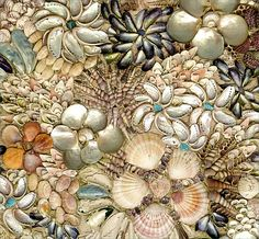 The Shell House shell mural shell art