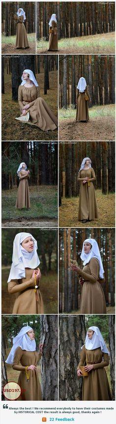 13de eeuwse jurk en sluier.