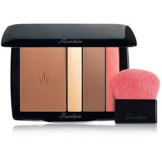 Guerlain Terracotta Bayadere Face & Eye Contour Palette (€63) ❤ liked on Polyvore featuring beauty products, makeup, no color, guerlain makeup, guerlain cosmetics, guerlain, palette makeup and highlight makeup