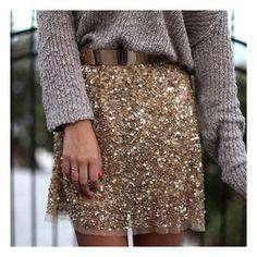 Sequin skirt Winter style  @mariaandamelia's Instagram photos   Webstagram - the best Instagram viewer