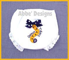 Tiger Tail Applique Diaper Cover   Geaux Tigers  LSU