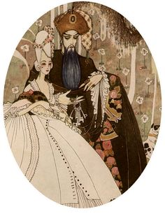 THE ILLUSTRATED LONDON NEWS for 1913, Kay Nielson watercolor paints BLUEBEARD.