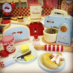 Ready, steady, BAKE!  photo features parts of our gorgeous wooden toys from Honeybake role play collection TV305 Honey Kitchen, TV285 Mixer Set, TV286 Cookie Set, TV283 Cake Stand, TV183 smoothie Fruits, TV187 Bakers Basket, TV289 Weighing Scale, TV300 Dinner Set, TV301 Pots & Pans, TV276 Honeybake Tea Set, TV800 Trinket Boxes #kids #christmas #gift #present #woodentoys #honeybake #collection #letoyvan #accessories #roleplay #fun #genderneutral toys #cooking #solid #wood #safe #paints