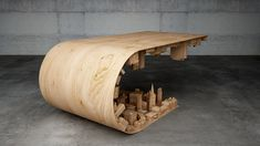 The Wave City Coffee Table was designed by Stelios Mousarris