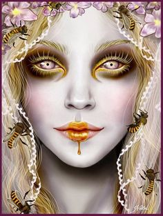"""Queen Bee."" by Natasa Ilincic Again, beautiful honey colour"