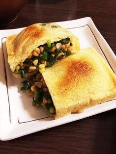 油揚げのたっぷりネギと納豆の詰め焼き by *sanemam* 【クックパッド】 簡単おいしいみんなのレシピが278万品