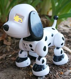 Zoomer Zuppies, Interactive Puppy. First of all, easy control lets your child interact with this toy robot using buttons and sensors. The sensors are especially important for they are mainly responsible for establishing friendly relationship between your kid and a toy. The sound and light effects make up for entertainment atmosphere while a number of educational games  contribute to child's development.  #bestadvisor #toy #robots