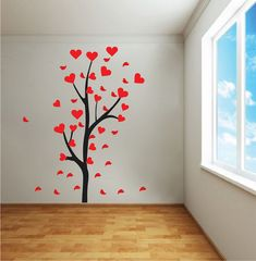 heart tree branch decal trendy wall designs