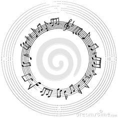 Music Notes Frame. Musical Background. Stock Illustration - Image: 59219121