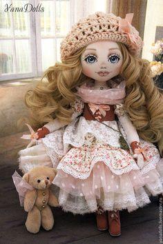 Коллекционные куклы ручной работы. Rosanna. YanaDolls. Ярмарка Мастеров. Кукла интерьерная, хлопок