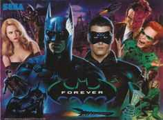 "Cover for ""Batman Forever"" Sega video game (1995)."