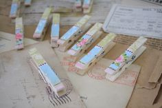 Pick 1 Dainty Pink Clothespin by GenkiPaperOutlet on Etsy, $0.35