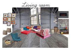 Living_room by veryvlada on Polyvore featuring interior, interiors, interior design, дом, home decor, interior decorating, TradeMark, Garden Trading and Roche Bobois
