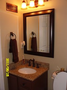 1000 images about bathroom on pinterest bathroom for Small half bathroom ideas on a budget