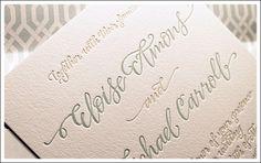 The Windmill presents invitation designs from Bella Figura. Featuring bold letterpress, foil stamping, and romantic contemporary design.