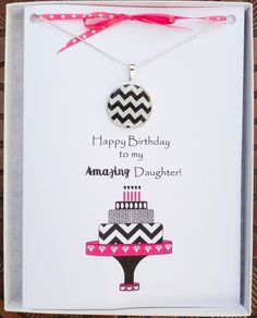 Items Similar To Daughter Birthday Card Necklace