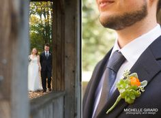 Fall Wedding Boutonniere :: Look Park Wedding in Florence, Massachusetts  :: Michelle Girard Photography