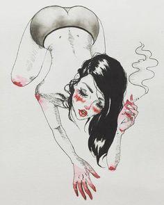 "Harumi Hironaka on Instagram: ""A naughty little #sketch / #illustration…"
