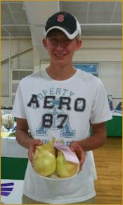 Prize winning Walla Walla onion from Dixondale Farms at the 2014 Indiana Sate Fair - Rob Hopkins received Reserve Champion.
