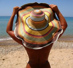 Colorful sun hat  (inspired for the back patio mural.)