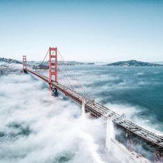 Golden Gate Bridge by @cas415 #sanfrancisco #sf #bayarea #alwayssf #goldengatebridge #goldengate #alcatraz #california