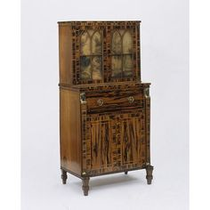 Bureau bookcase, 1808-1810. George Oakley. Regency Furniture, Antique Furniture, Furniture Makers, Behind The Glass, Artist Materials, Small Drawers, Victoria And Albert Museum, Bookcase, Desk Shelves