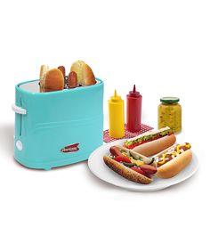 Blue Hot Dog Toaster