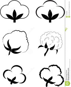 how to draw cotton plant easy