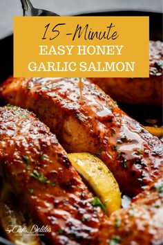 Garlic Recipes, Salmon Recipes, Seafood Recipes, Easy Recipes, Healthy Recipes, Salmon Dinner, Seafood Dinner, Easy Food To Make, Quick Easy Meals