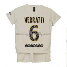 Paris Saint Germain PSG maillot de foot enfant 2018-19 Marco Verratti 6 maillot extérieur Psg, Maillot Paris Saint Germain, Saints, T Shirts For Women, Mens Tops, Unitards