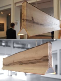 Live edge wood and light