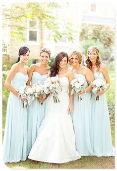 Bridesmaid dresses. Via Inweddingdress.com #bridesmaid